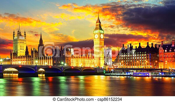 Big Ben at night - csp86152234