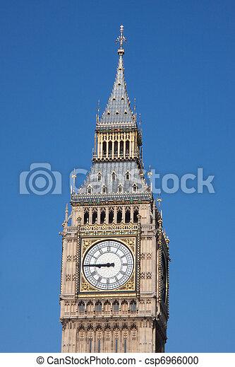 Big ben clock, House of parliament - csp6966000