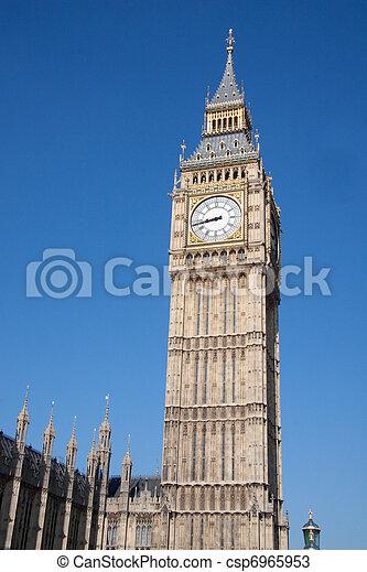 Big ben clock, House of parliament - csp6965953