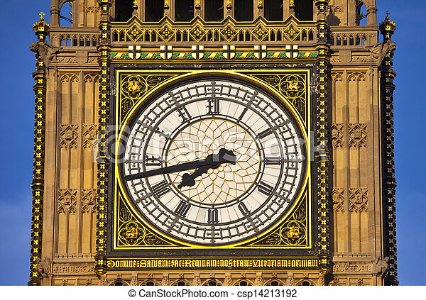 Big Ben (Houses of Parliament) Close-up - csp14213192