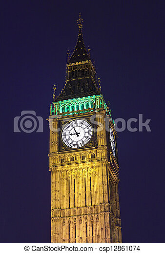 Big Ben / Houses of Parliament in London - csp12861074