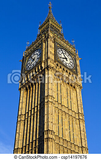 Big Ben (Houses of Parliament) in London - csp14197676