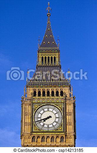 Big Ben (Houses of Parliament) in London - csp14213185