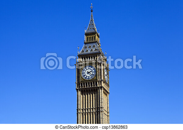Big Ben (Houses of Parliament) in London - csp13862863