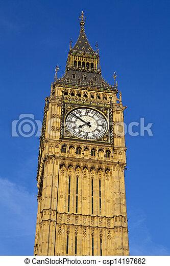 Big Ben (Houses of Parliament) in London - csp14197662