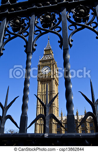 Big Ben (Houses of Parliament) in London - csp13862844