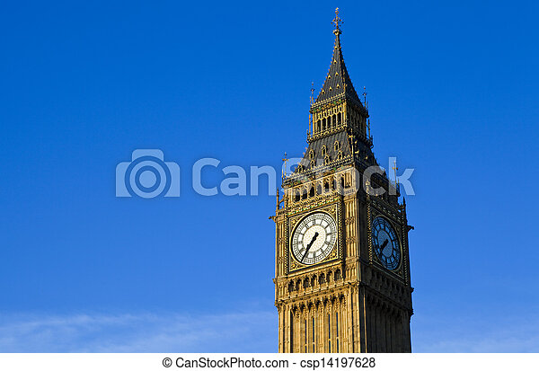 Big Ben (Houses of Parliament) in London - csp14197628