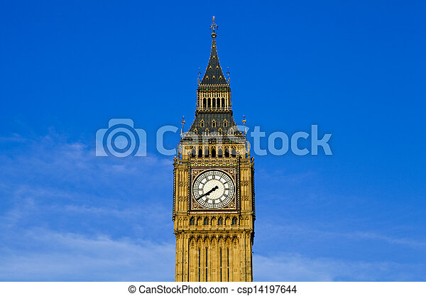 Big Ben (Houses of Parliament) in London - csp14197644