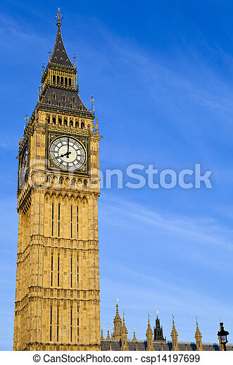 Big Ben (Houses of Parliament) in London - csp14197699