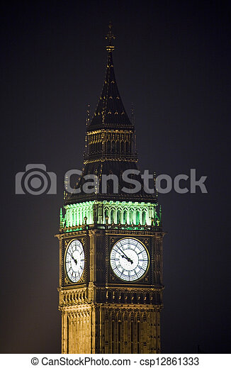 Big Ben / Houses of Parliament in London - csp12861333