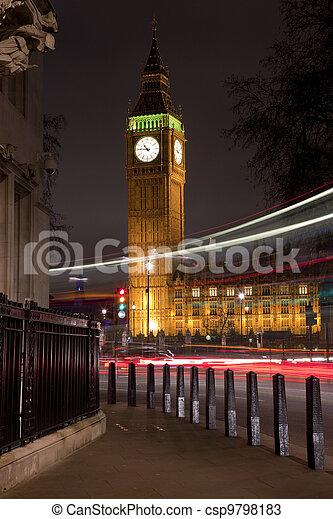 Big Ben (Houses of Parliament) in London - csp9798183