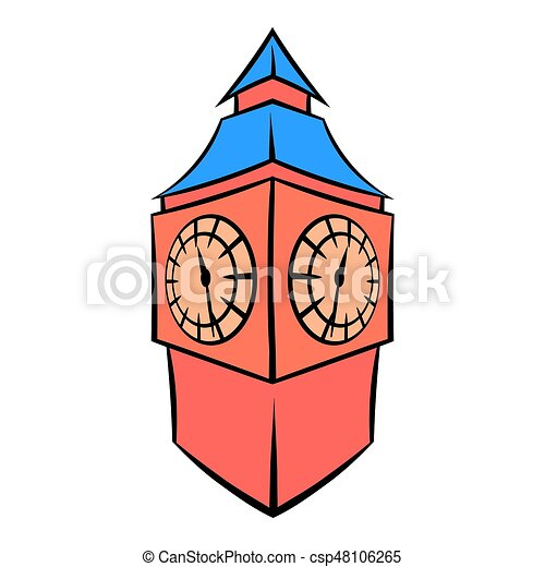 big ben in london icon cartoon big ben in london icon in stock rh canstockphoto com big ben clipart free big ben clipart images