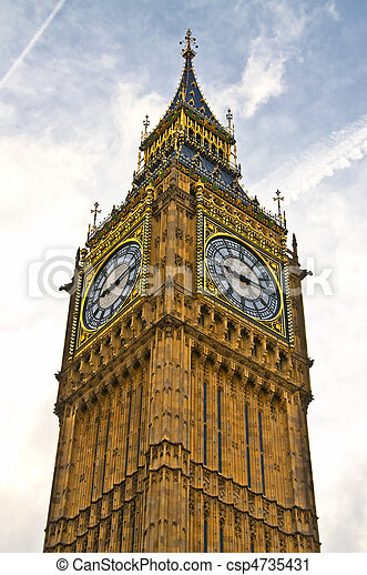 Big Ben in the city of London - csp4735431
