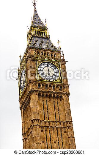 Big Ben in Westminster, London England UK - csp28268681