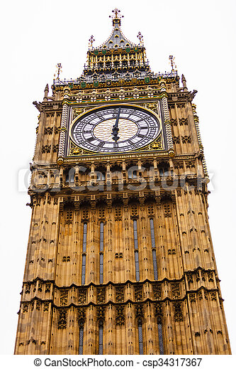 Big Ben in Westminster, London England UK - csp34317367