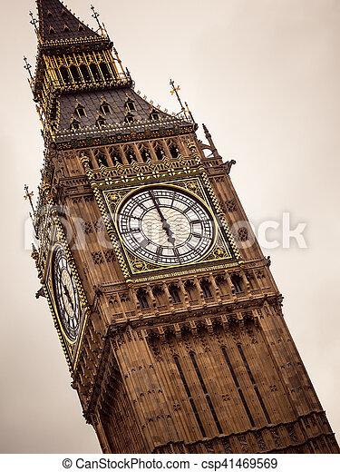 Big Ben in Westminster, London England UK - csp41469569