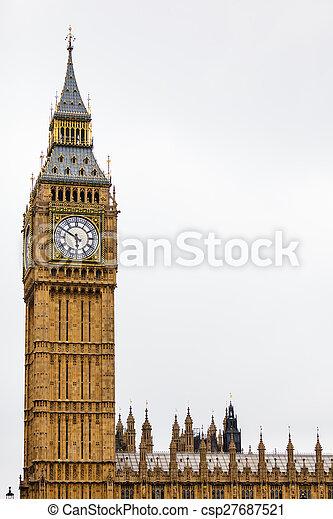 Big Ben in Westminster, London England UK - csp27687521