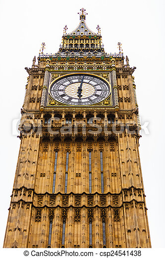 Big Ben in Westminster, London England UK - csp24541438