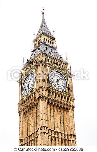 Big Ben in Westminster, London England UK - csp29255836