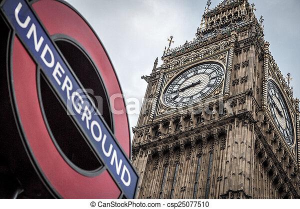 big ben, london - csp25077510