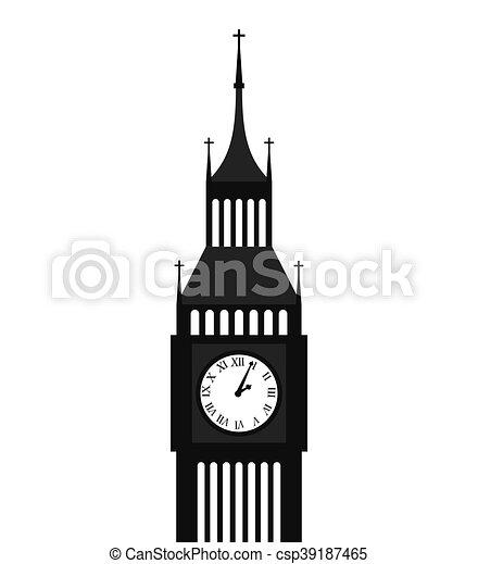 big ben london building vector illustration design clip art vector rh canstockphoto com big ben silhouette clip art big ben clock clip art