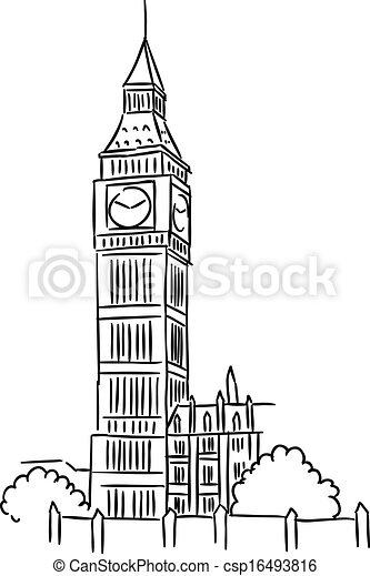 Big Ben en Londres - csp16493816