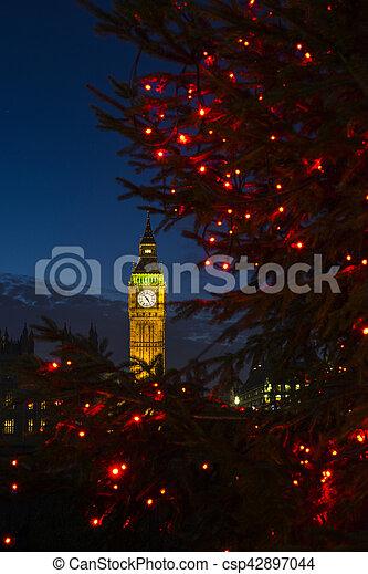 Big Ben en Navidad - csp42897044