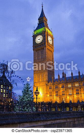 Big Ben en Navidad - csp23971365