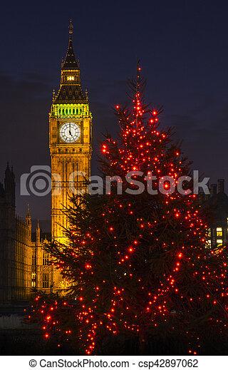 Big Ben en Navidad - csp42897062