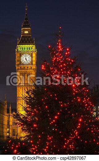 Big Ben en Navidad - csp42897067