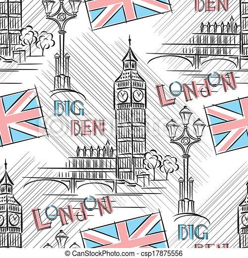 Big Ben seamless - csp17875556