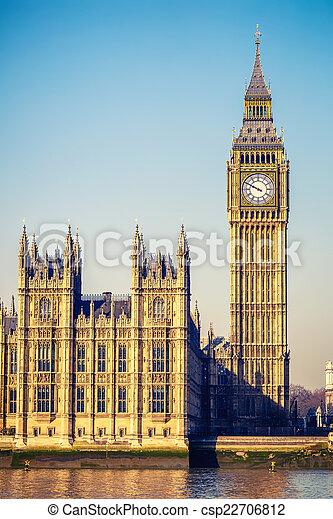 Big Ben tower in London - csp22706812