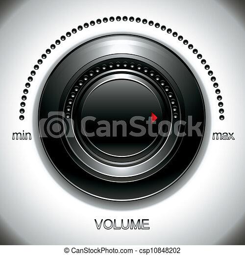 Big black volume knob. - csp10848202