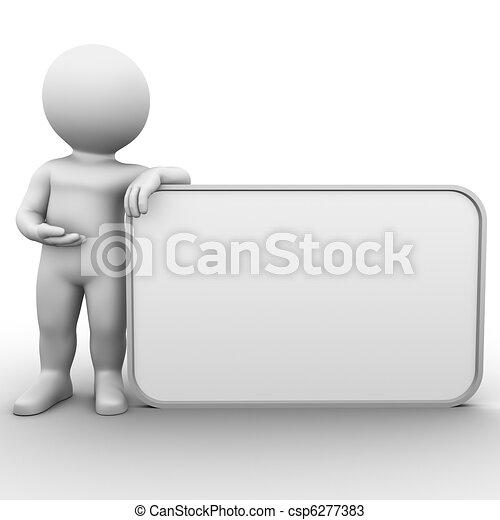 big blank ad screen board - csp6277383