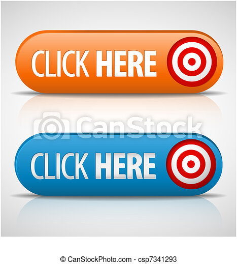 Big blue and orange click here buttons - csp7341293