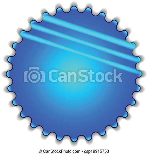 Big blue button - csp19915753
