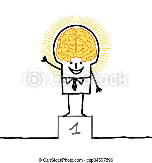 Big brain man excellence stock illustration search vector big brain man excellence csp34597896 thecheapjerseys Gallery