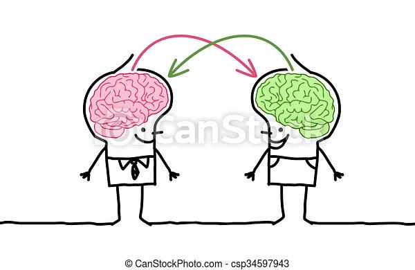 big brain men & exchange - csp34597943