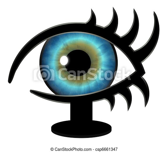 Big Brother Eye on a Stand - csp6661347