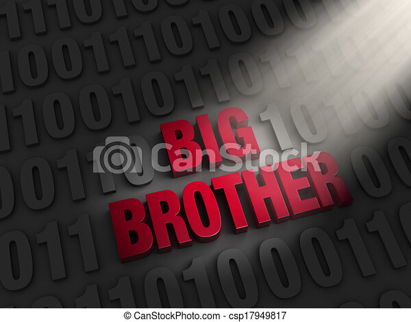 Big Brother in the Computer Code - csp17949817