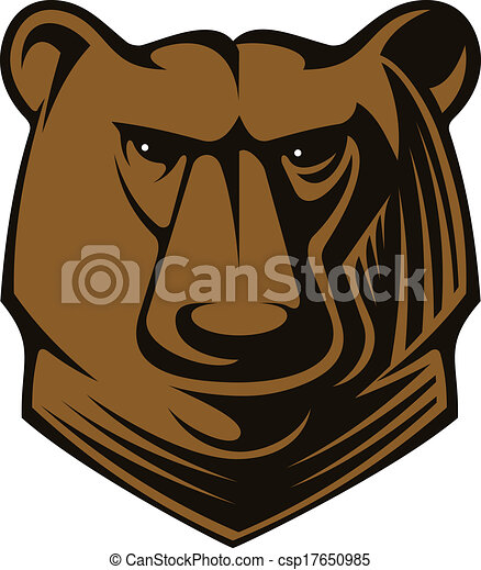 Big brown bear head - csp17650985