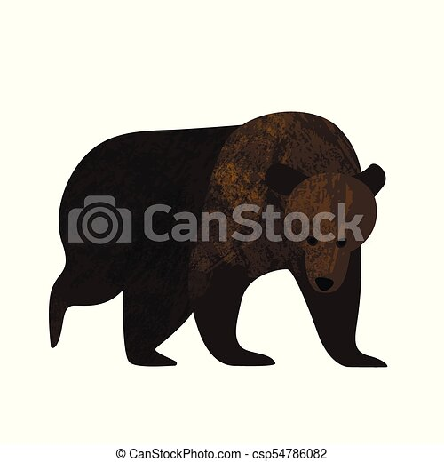 Big brown bear isolated on white background - csp54786082