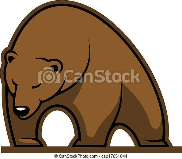 Big brown bear mascot - csp17651044
