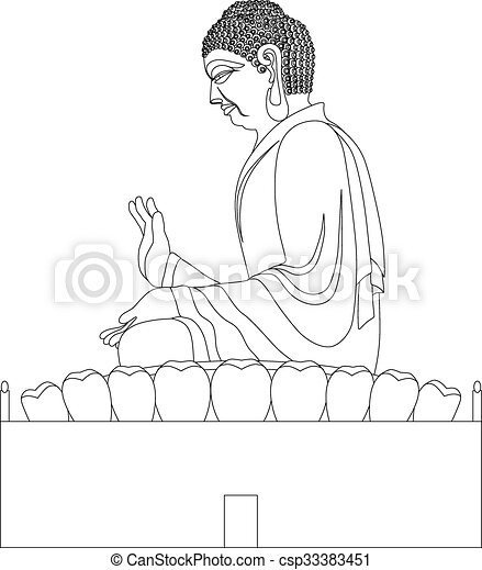Opinion, asian black and white clip art
