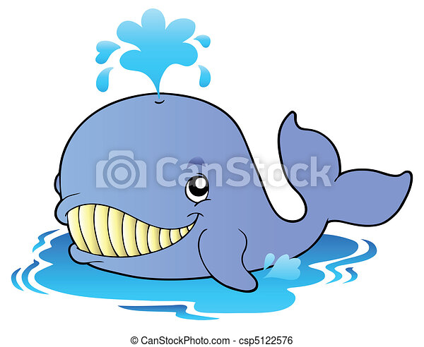 Big cartoon whale - csp5122576