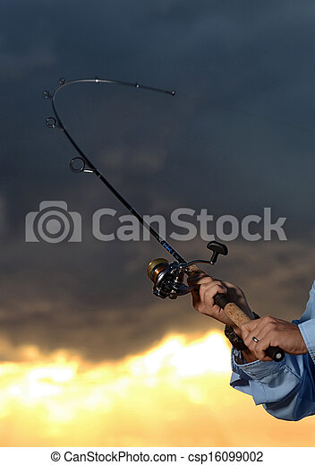 big catch while fishing with rod and reel - csp16099002