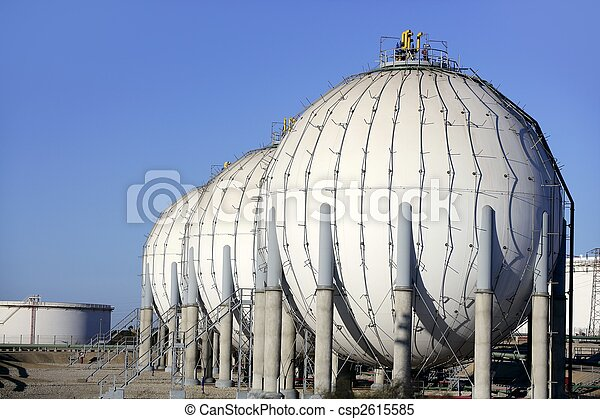 Big chemical tank petrol container oil industry - csp2615585