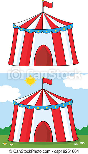 Big Circus Tent. Collection Set - csp19251664  sc 1 st  Can Stock Photo & Cartoon character big circus tent. collection set clip art vector ...
