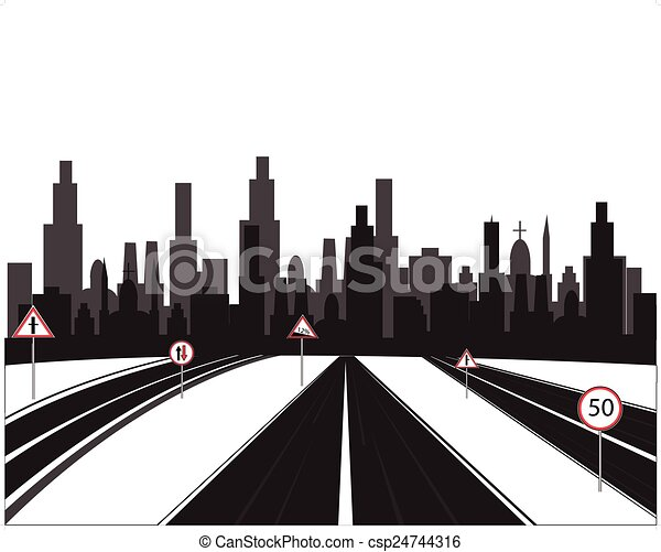 big city and roads vector illustration big of the city and rh canstockphoto com city victorville ca city victoria texas