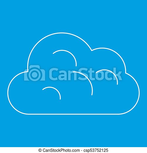 Big Cloud Icon Outline Style